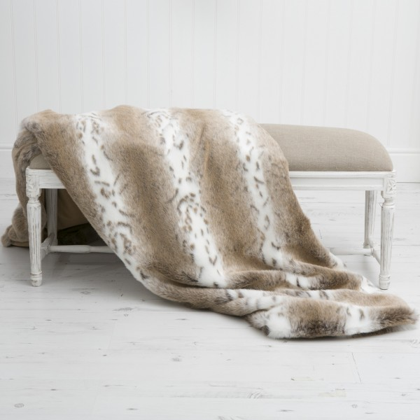 African Leopard XL Luxury Faux Fur Throw