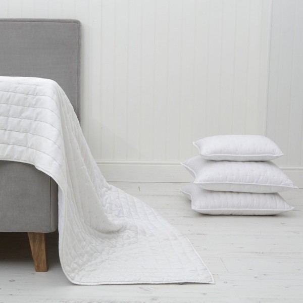 Chantilly White Cotton Bedspread