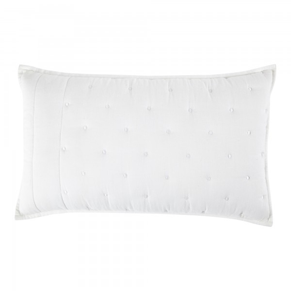 Chantilly White Quilted 30 x 50 Cushion Cover With Interior
