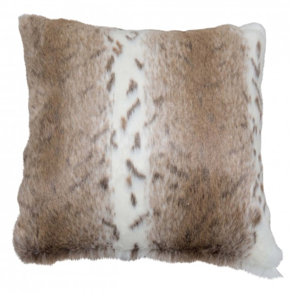 African Leopard 58 x 58 Faux Fur Cushion With Interior