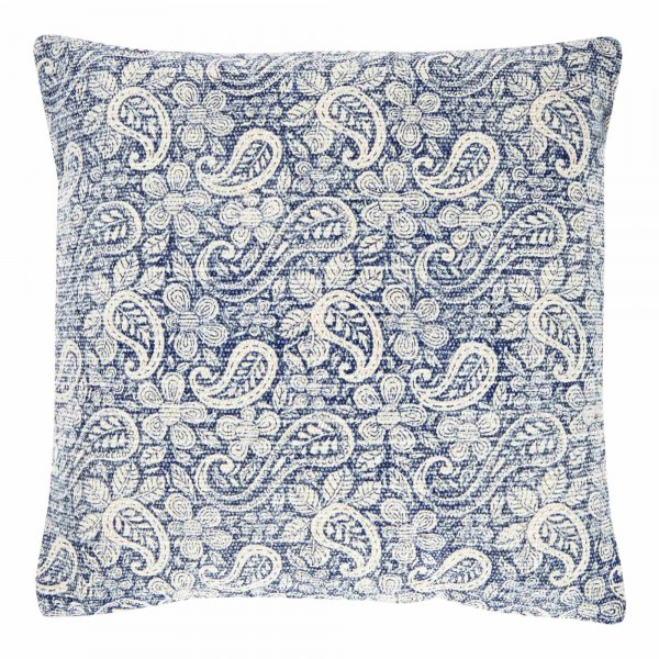 Blue Paisley 45 x 45 Cotton Cushion