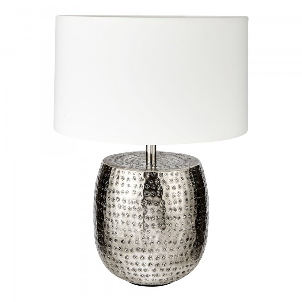 Daisy Lamp Base Complete With Shallow Drum Shade