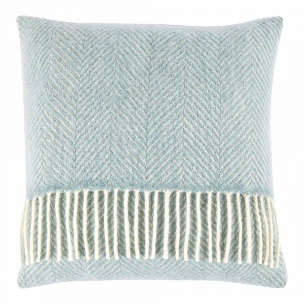 Pure New Wool 40 x 40 Duck Egg Blue Cushion With Interior