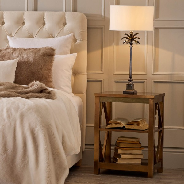 Antique Gold Bedside Table | Chelsea