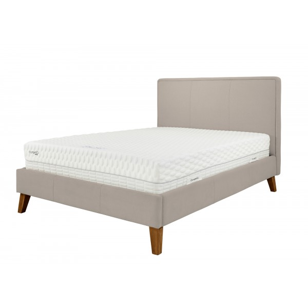 New York King Size Bed Frame Magic Velvet Latte