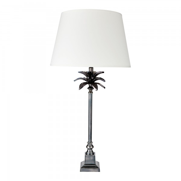 Retro Palm Lamp Base Complete With Retro Drum Shade