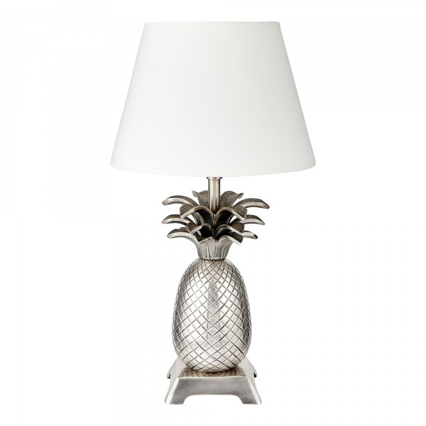 Pineapple Tropicana Lamp Base With Retro Drum Shade