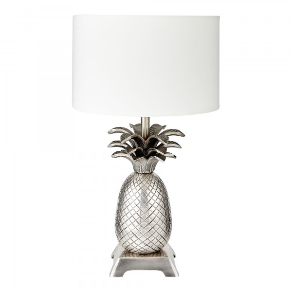 Pineapple Tropicana Lamp Base With Shallow Drum Shade