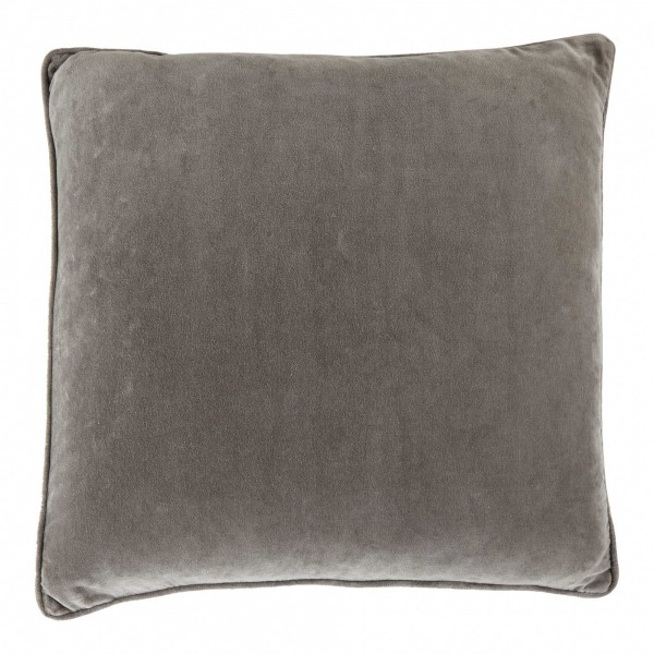 Vitton Grey Velvet 60 x 60 Cushion Cover