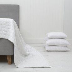 Chantilly White Cotton Bedspread