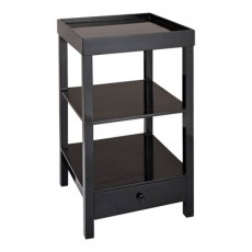 Black Gloss Bedside Table | Cancun