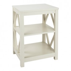 Chelsea Brushed White Bedside Table