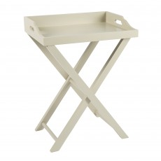 Downton Greige Bedside Table