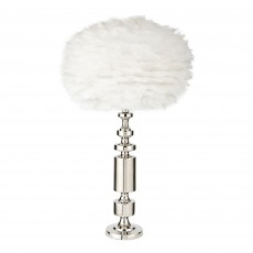 Chrome Nickel Lamp Base With Feather Shade | Eros