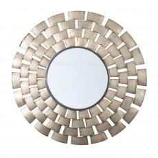 Inca Round Metal Gold Wall Mirror