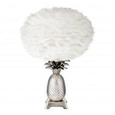 Pineapple Tropicana Lamp Base With Feather Shade