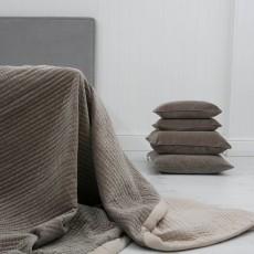 Longchamp Beige Velvet Bedspread