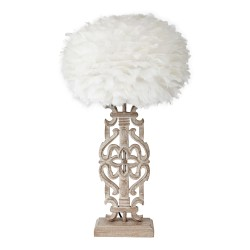Arabesque Lamp Base Complete With Feather Shade
