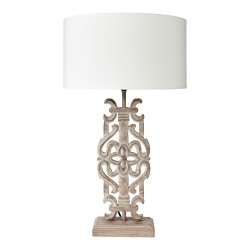 Arabesque Lamp Base Complete With Shallow Drum Shade