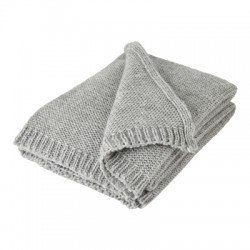 Chunky Soft Grey Knitted Alpaca Mix Throw
