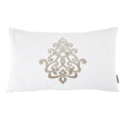 Louis White Linen 30 x 50 Motif Cushion