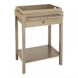 Dark Sand Painted Bedside Table | Notting Hill