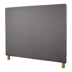 Plain Piped Headboard | King Size | Magic Velvet Liquorice