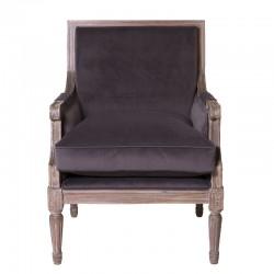 Bonaparte Slate Grey Velvet Chair