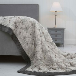 Millieflora Grey Printed Cotton Bedspread