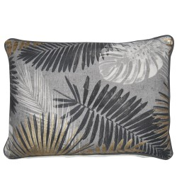 Tropical Palm 35 x 50 Tonal Cushion with Feather Interior