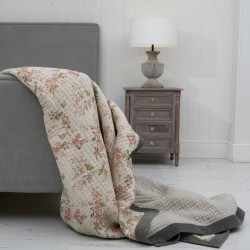 Petit Jardin Printed Linen Bedspread