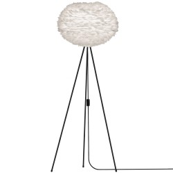 Vita Eos Medium White Feather Lampshade