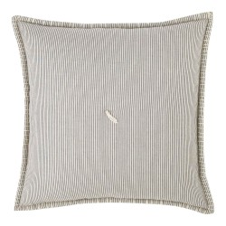Finlay Ecru & Ink Striped 40 x 40 Cushion Cover with Interior