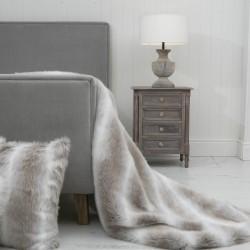 Snow Rabbit XL Luxury Faux Fur Throw