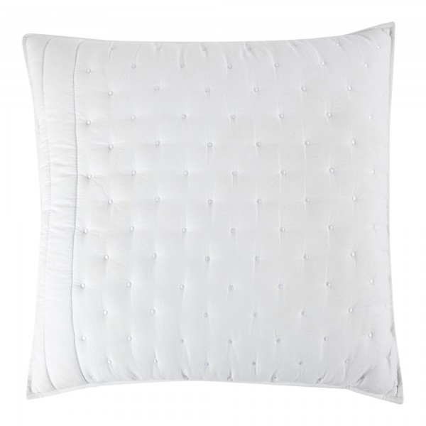 Chantilly White Quilted Cushion