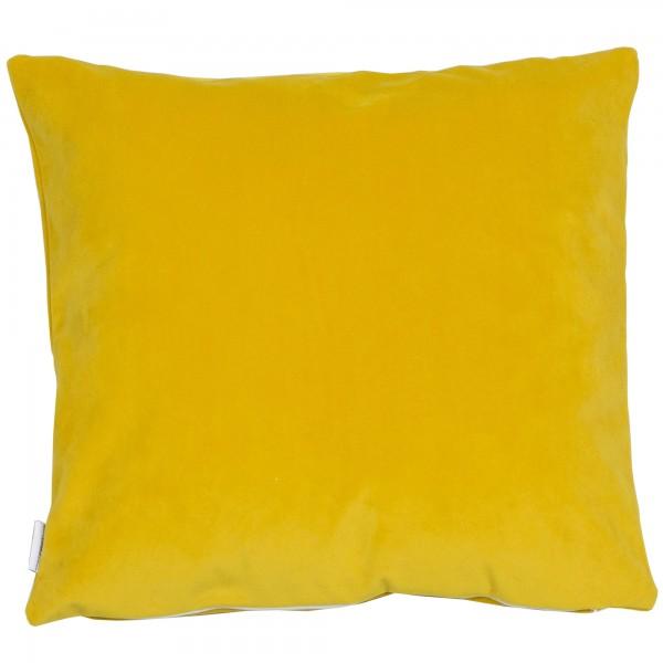 Saffron Velvet 45 x 45 Cushion Complete with Duck Feather Interior