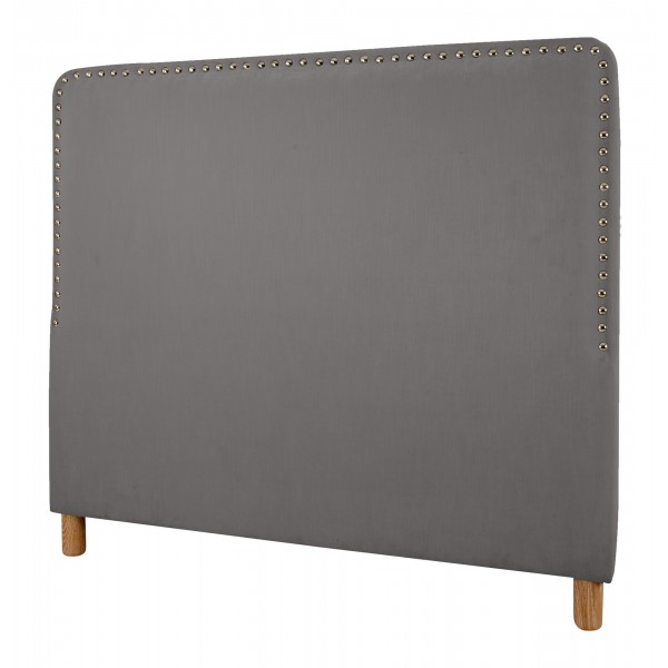 Big Stud Headboard | King Size | Magic Velvet Liquorice
