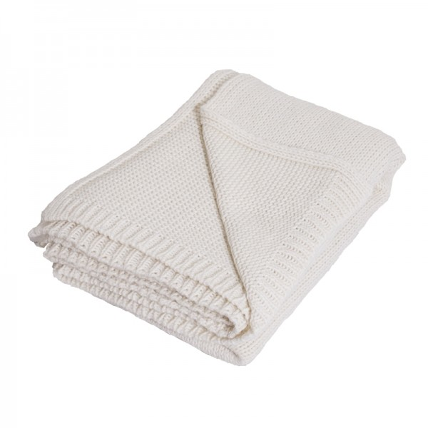 Chunky Cream Knitted Alpaca Mix Throw