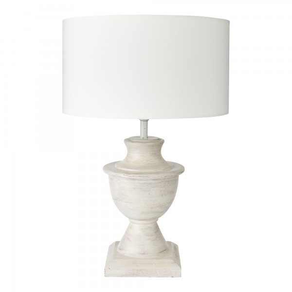 Hermes Lamp Base Complete With Shallow Drum Shade