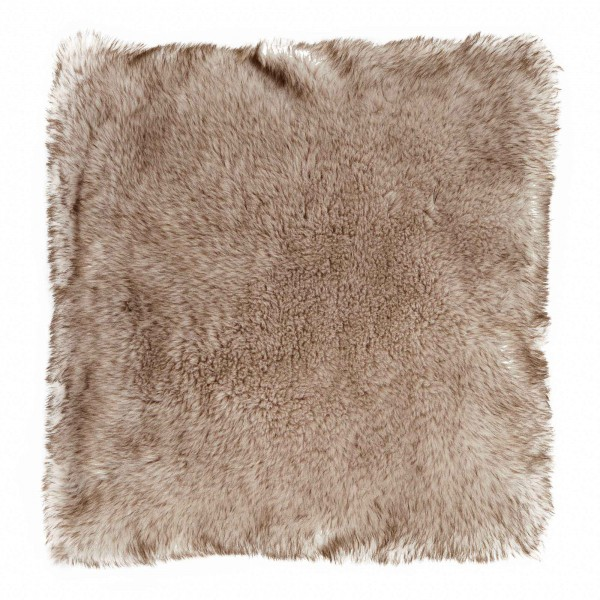 Husky Wolf Large 58 x 58  Faux Fur Cushion With Interior