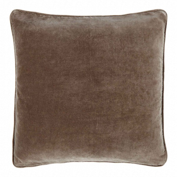 Longchamp Beige Velvet 60 x 60 Cushion Cover With Feather Interior