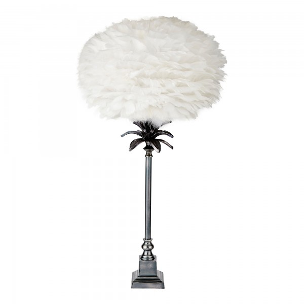 Retro Palm Lamp Base Complete With Feather Shade