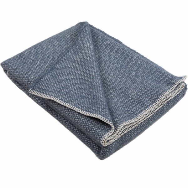 Slate Blue Blanket Stitch Throw