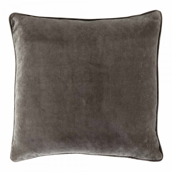 Vitton Grey Velvet 60 x 60 Cushion With Feather Interior
