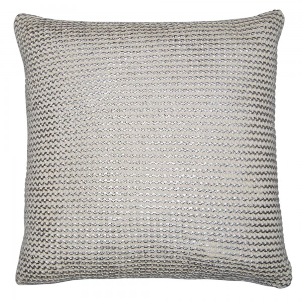 Pearl Knitted 45 x 45 Chainmail cushion with feather interior