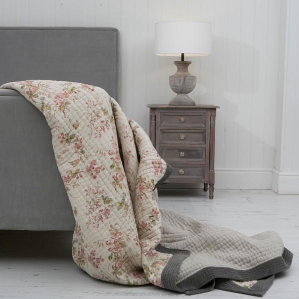 Petit Jardin Luxury Printed Linen Reversible Bedspread