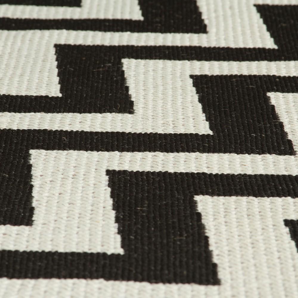 Zigzag Black Natural Rug The