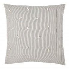 Finlay Ecru & Ink Striped 60 x 60 Cushion Cover with Interior