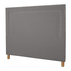 Double Stud Headboard | King Size | Magic Velvet Liquorice