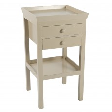 Warm Linen Painted Bedside Table | Pimlico